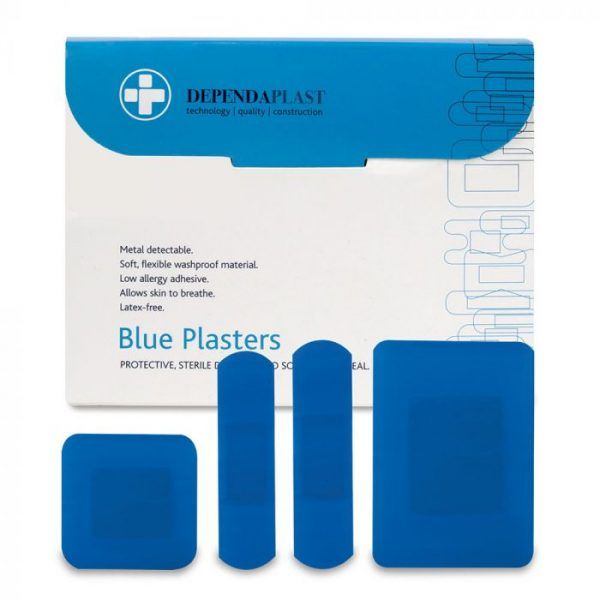 Blue Detectable Plasters - Assorted (Box Of 100)